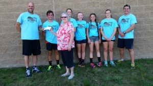 Bellaire Cross Country Team and Bonnie Fish from Alden Run
